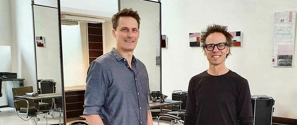 Die beiden Geschäftsführer Sascha Vollmer (links) und Silvio Christall